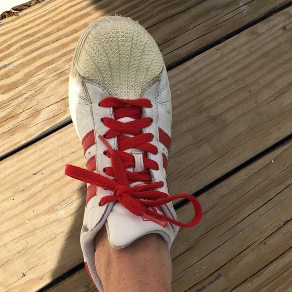 adidas Shoes - Adidas sneakers in never seen RED!! 7.5 women's